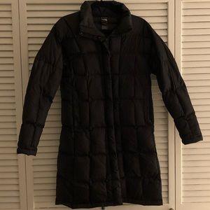 Black North Face mid length coat